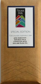 40% Dominican Republic Milk Chocolate with Sicilian Olive Oil